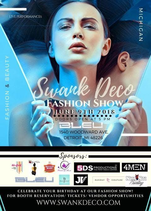 Volunteer Intern Media Registration for Swank Deco Fashion Show Detroit