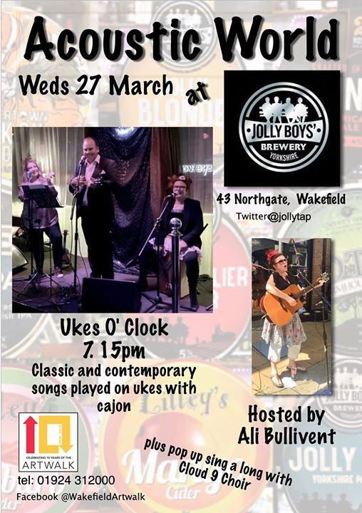 Acoustic World Wakefield Art Walk with Ukes O Clock