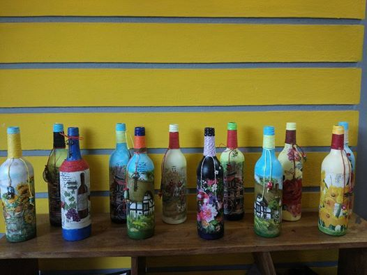 Decoupage Bottle Art Workshop in Bangalore  Beginner workshop