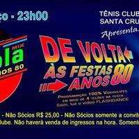 Festa Vitrola Mix Anos 80 - Tnis Clube