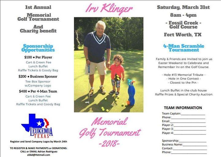 Irv Klinger Memorial Golf Tournament