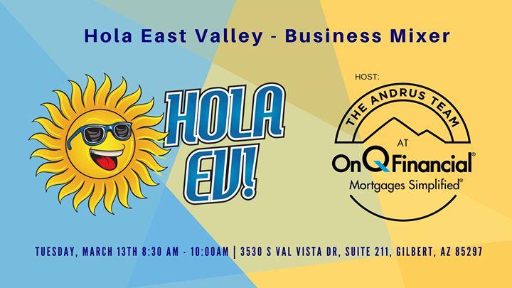 Hola Ev Buisness Breakfast Mixer At 3530 S Val Vista Dr Suite 211