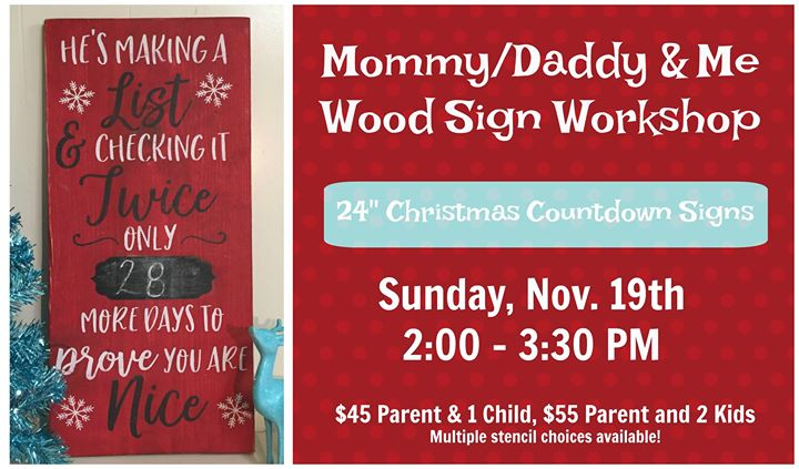 sold out momdad me christmas countdown signs at the turquoise top hat llc stevensville - Christmas Countdown Sign