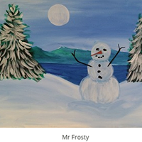 Mr. Frosty Painting Fundraiser for The Believe Project