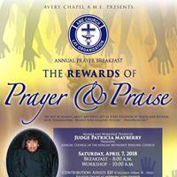 The Reward of Prayer &amp Praise Annual Prayer Breakfast