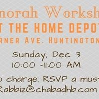 Menorah Workshop at Home Depot