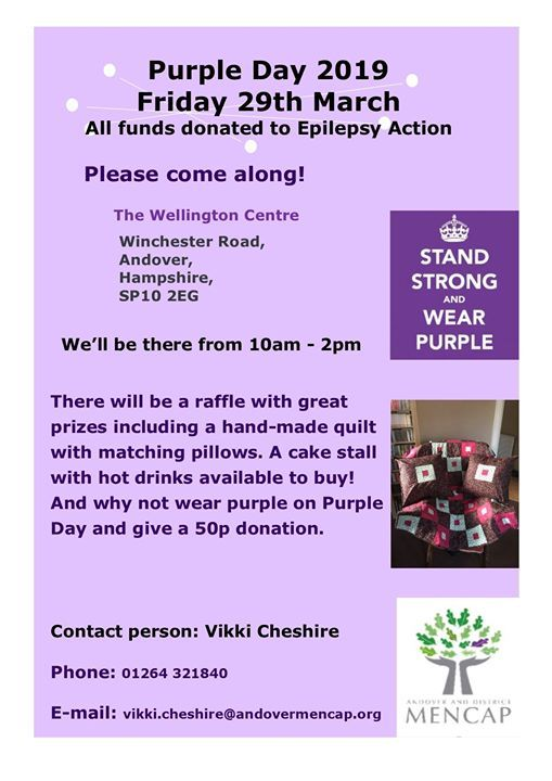 Purple day with Vikki Cheshire Raising awareness for people with