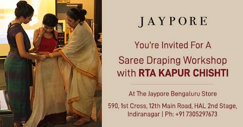 Saree Draping Workshop With Rta Kapur Chishti