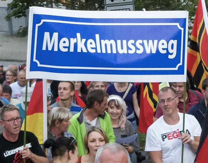 Auch in DillingenSaar - Das Merkel muss weg