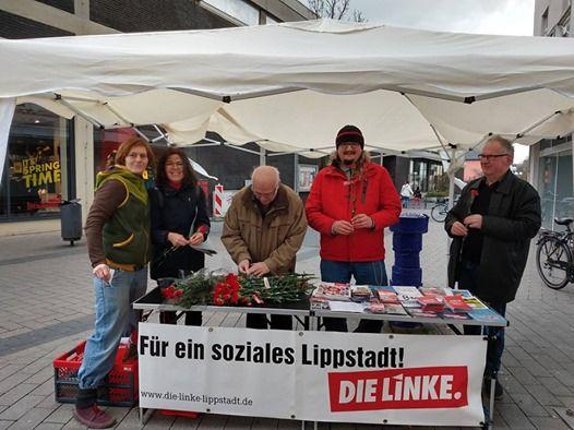 Infostand zur Europawahl in Lippstadt