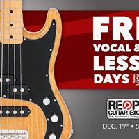 Free Vocal and Bass Lesson Days
