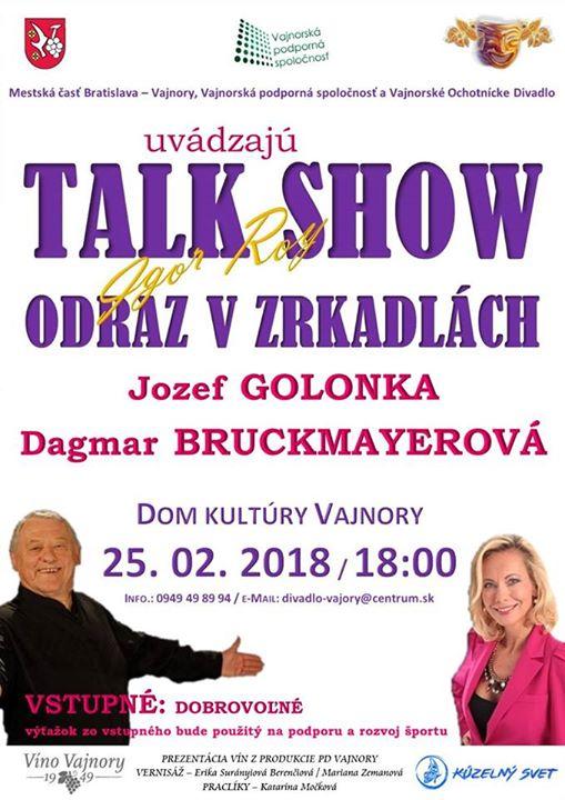 Talk Show: Jozef Golonka a Dagmar Bruckmayerová at Dom