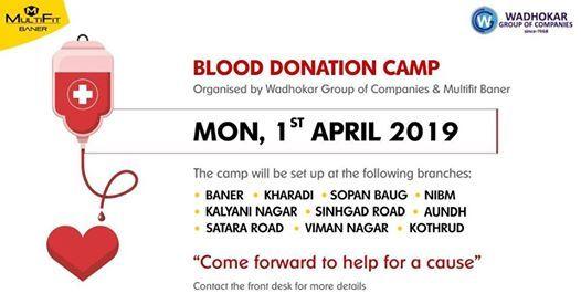 Blood Donation Camp at MultiFit Baner