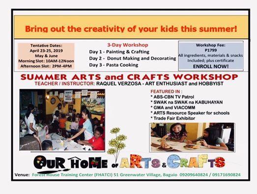 Summer Arts  & Crafts Workshop