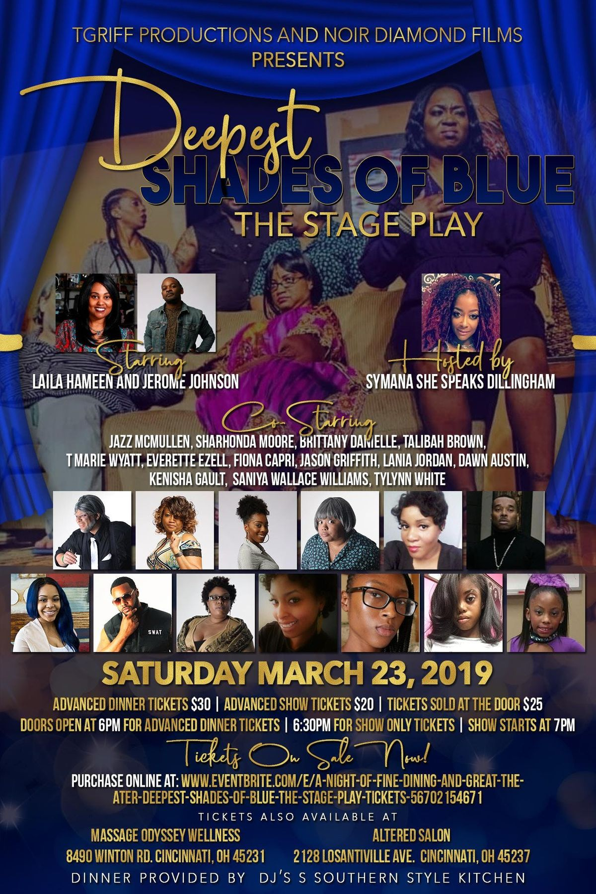 A Grand Night of  Dining and Theater  Deepest Shades of Blue The Stage Play