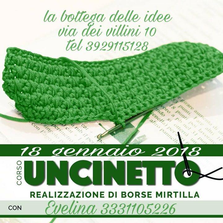 Corso Uncinetto At La Bottega Delle Idee Di Rossana Sorrenti
