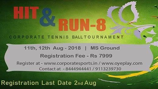 Hit and Run 9 Corporate Cricket Tournament -Bengaluru