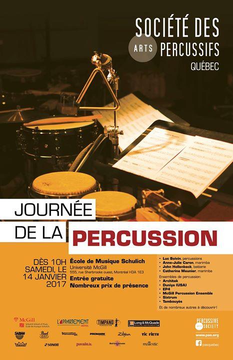Journe de la percussion - PAS Qubec