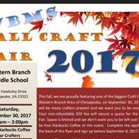 Western branch middle Fall Craft fair