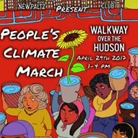 Peoples Climate March On the Walkway 4.29