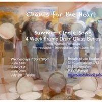 Summer Circle Song Frame Drum 4 week series Santa Monica