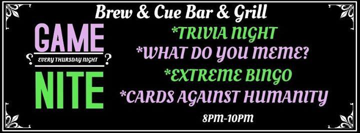 Brew & Cue Game Night- Trivia Night at Brew & Cue, Oregon