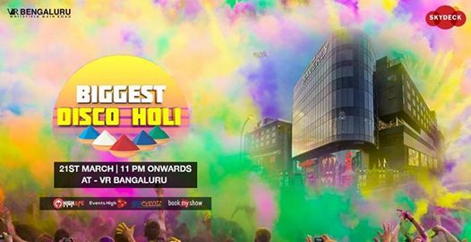 Disco Holi 2019 March 21st Pool with Biggest Dance Floor