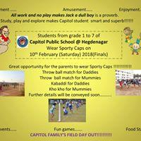 Primary Sports Day Invitation