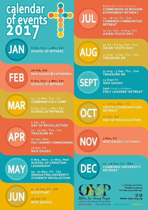 Calendar Of Events : Calendar of events at office for young people singapore