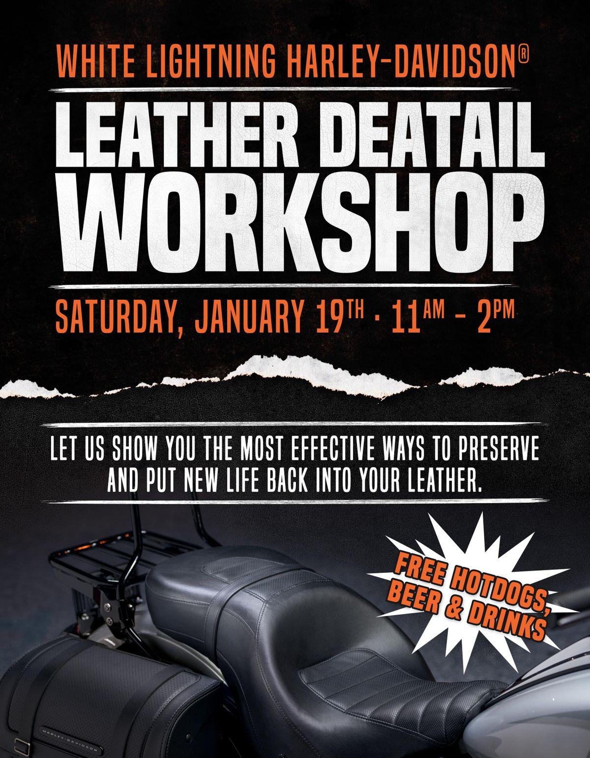 Leather Care Workshop at White Lightning Harley-Davidson, Chattanooga