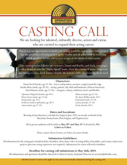 Casting Call for