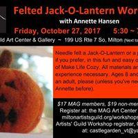Felted Jack-O-Lantern Workshop