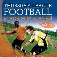 Over 30s five-a-side football league