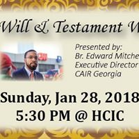 Islamic Will &amp Testament Workshop