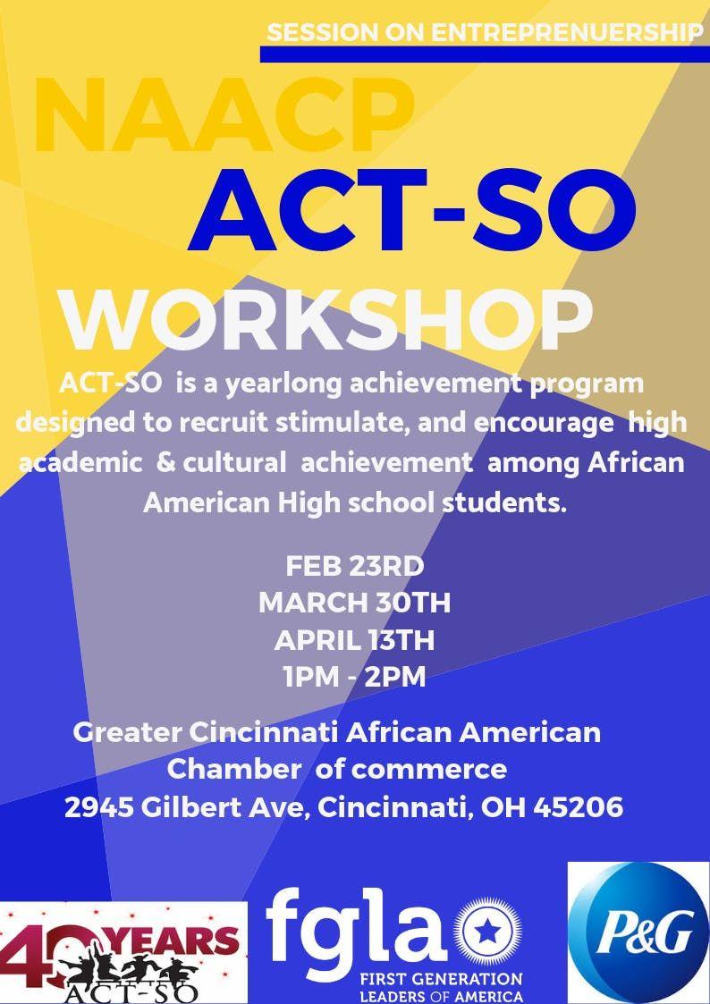 NAACP ACT-SO Entrepreneurship Workshop