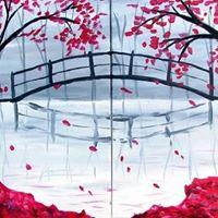 Bridge in the Fall Partner Painting