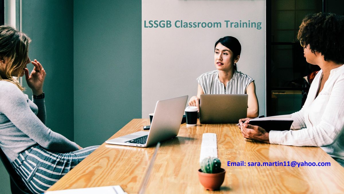 LSSGB Classroom Training Course in Aspen CO