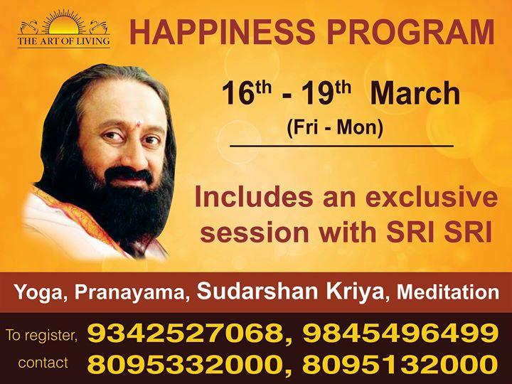 Happiness Program with Sri Sri