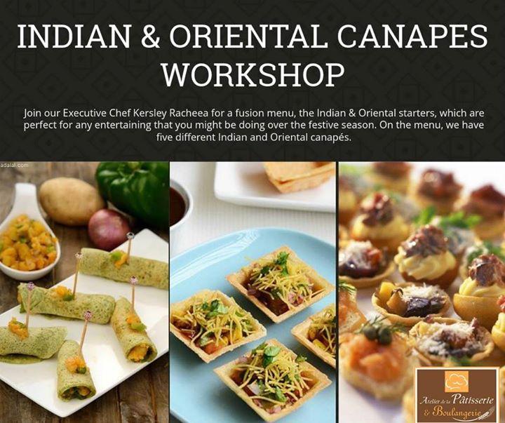 Indian oriental canapes workshop at atelier de la for Canape orientale