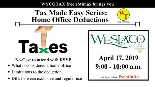 Tax Made Easy Home Office Deductions