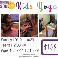 Kids Yoga Fall Series  Ages 4-6