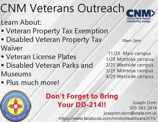 Cnm Montoya Campus Veterans Outreach At Cnm Montoya Campus4700
