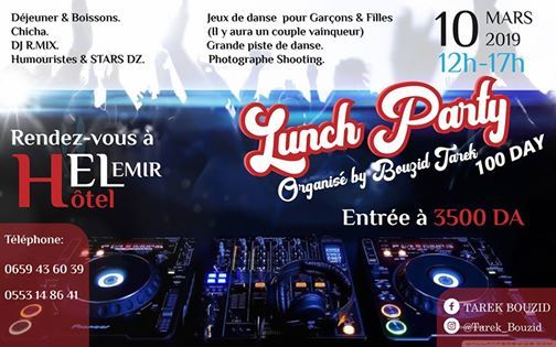 Lunch Party At Hotel Emir Page Officiel Algiers