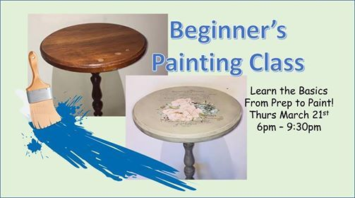 Bring Your Own Junk Chalk Painting Class