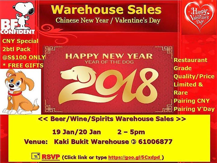 Chinese New Year  Valentines Day Warehouse Sales