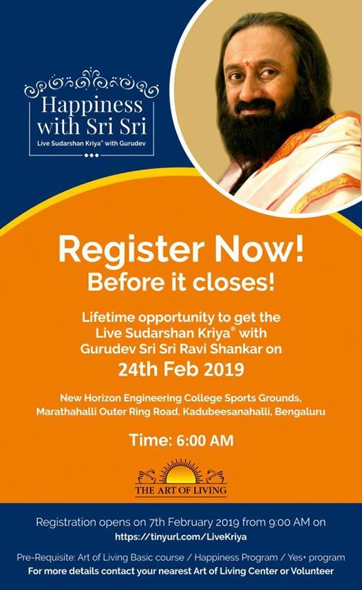 Live Sudarshan Kriya with Sri Sri