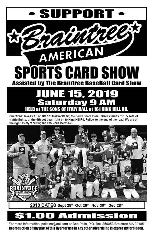 Braintree Baseball Card Show Braintree