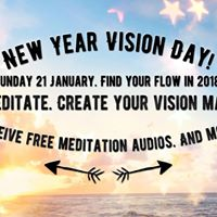 New Year Vision Day. Find your flow in 2018