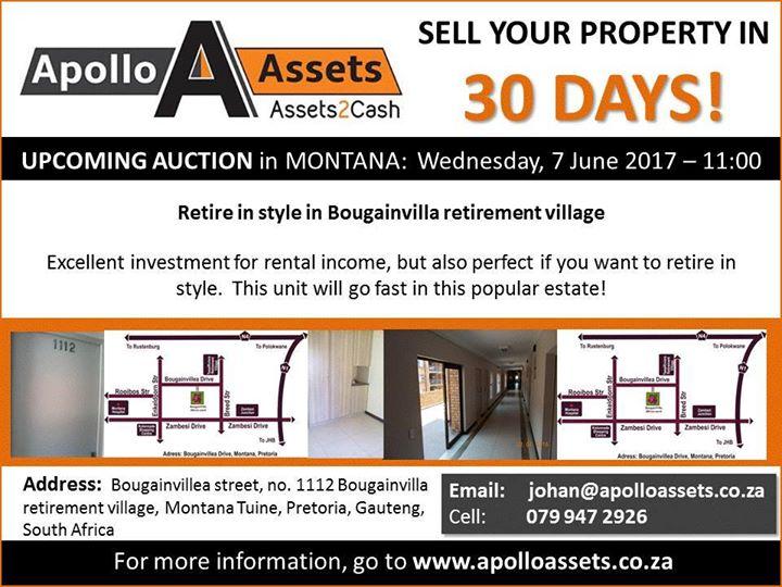 Auction Reminder: Bougainvilla Retirement Village at Bougainvillea