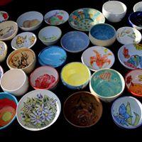 Public Painting for Empty Bowls Naples Inc